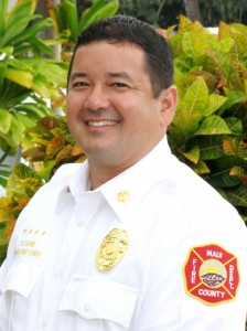 Newly selected Assistant Chief David Thyne fills the post created by the retirement of Support Services A.C. Alan Pascua.  Photo Courtesy: County of Maui.
