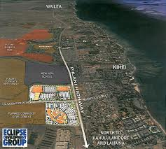 outlet mall from air showing location kihei