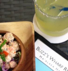 pupus, drinks pau hana at buzz's