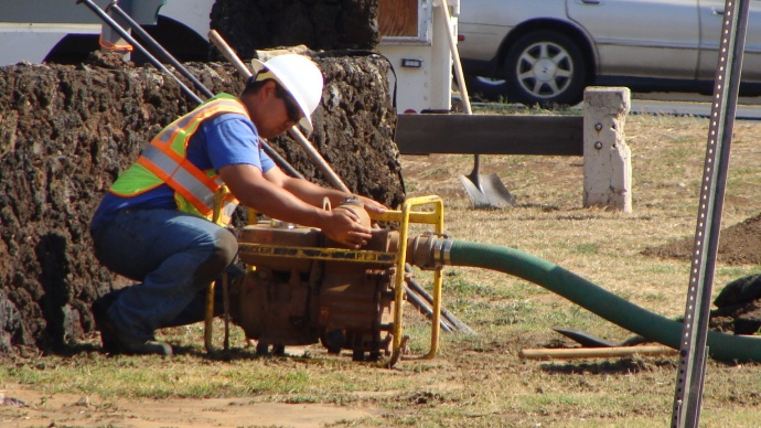 Water Department repairs, file photo by Wendy Osher.