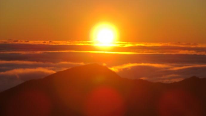 Haleakala sunrise, file photo by Wendy Osher.