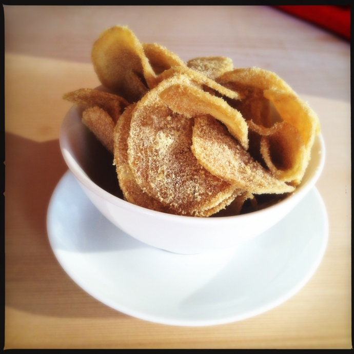 The house-made potato chips. Photo by Vanessa Wolf