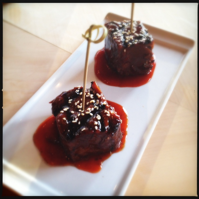 Amasia's short ribs with ko choo jang sauce. Photo by Vanessa Wolf