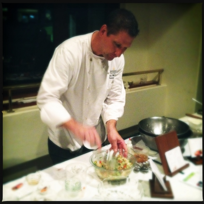 Executive chef McDowell at a previous food and wine education event. Photo by Vanessa Wolf
