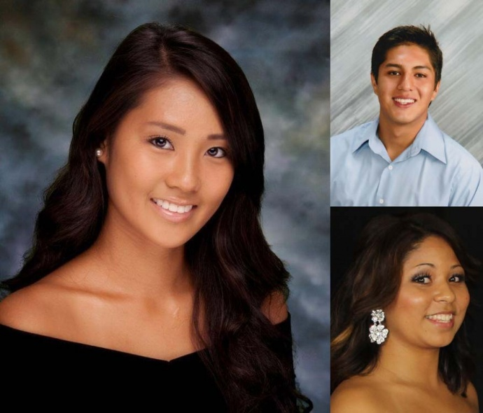Scholarship recipients Alicia Ballesteros (left), Francisco Jiminez Salgado (right top), and Lesley Escobar (right bottom). Courtesy photos.