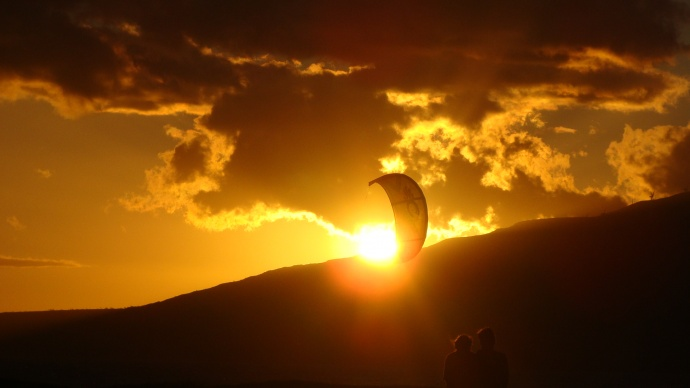 Kite surfing, Maui. File photo by Wendy Osher.