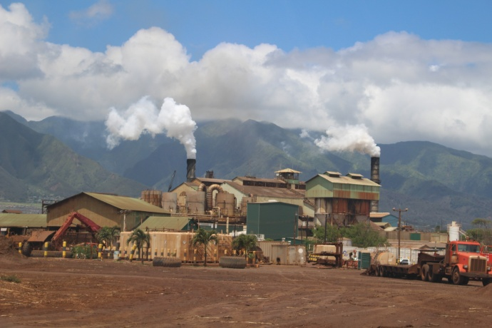 HC&S Puʻunēnē Mill in Kahului. Photo by Wendy Osher.