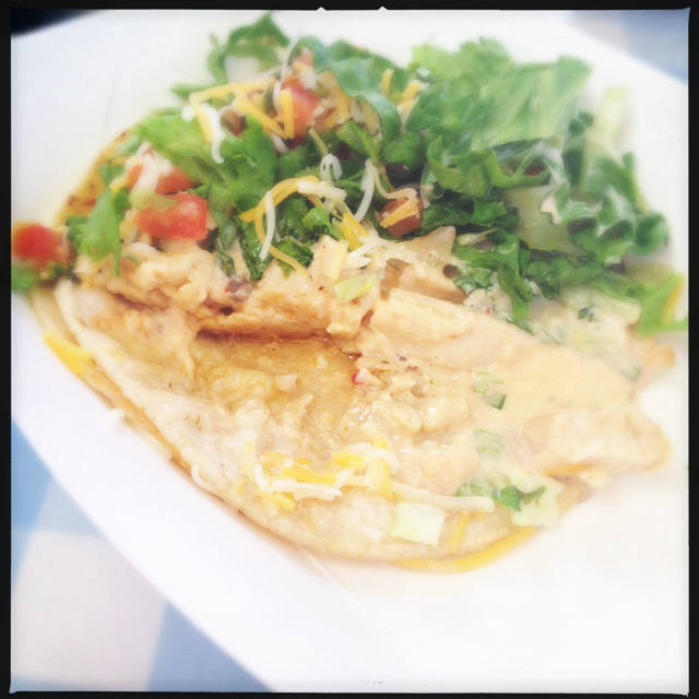 The Chicken Taco is super Americanized, but still boasts good flavor. Photo by Vanessa Wolf