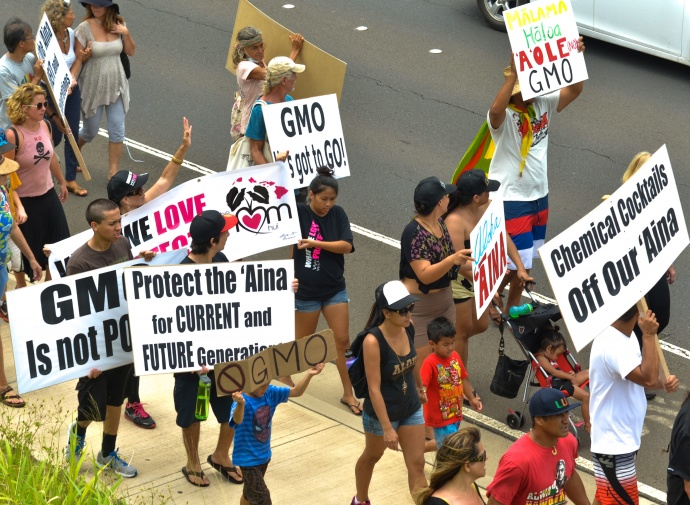 Anti-GMO rally, Sunday, March 30, 2014. Photo by Rodney S. Yap.