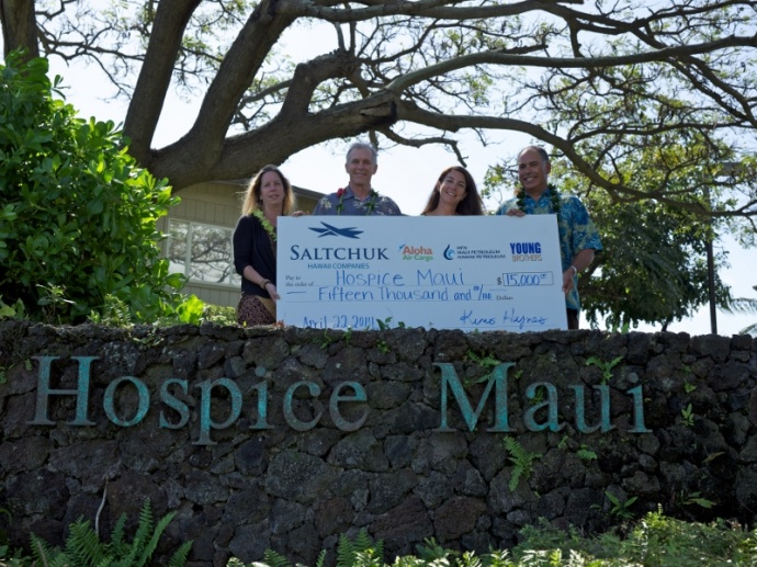 Saltchuk Hawaiʻi Companies grant $15,000 to support Hospice Maui's Facilities Expansion project. Courtesy photo.
