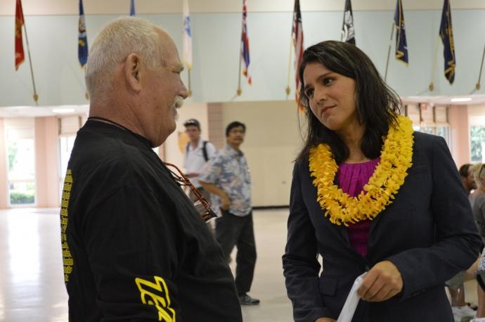 """Veterans Listening Tour"" with Congresswoman Tulsi Gabbard. Courtesy photo."