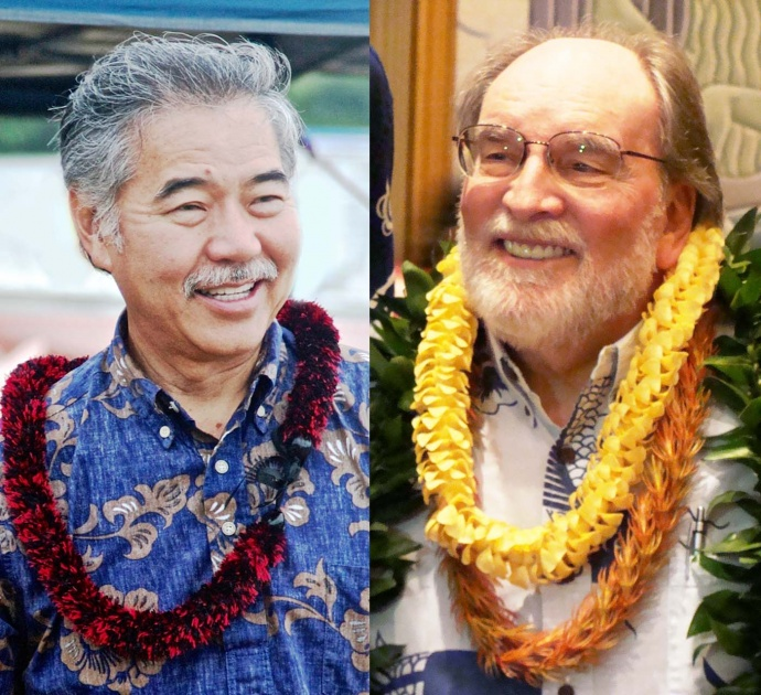 Senator David Ige (left - courtesy photo) and Governor Neil Abercrombie (right - photo by Wendy Osher).