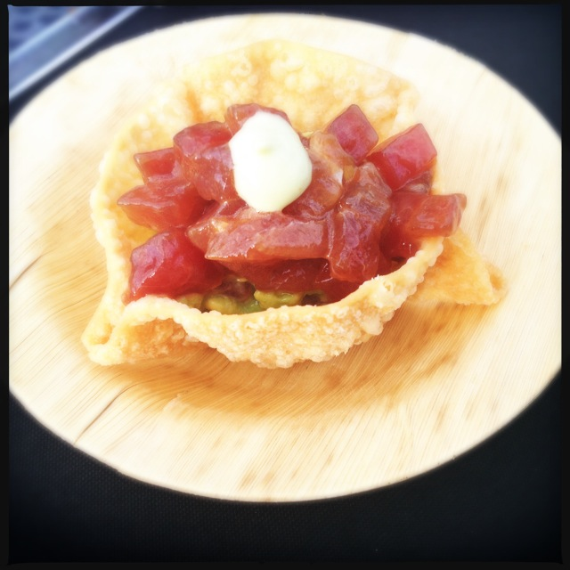 Ahi poke. Photo by Vanessa Wolf