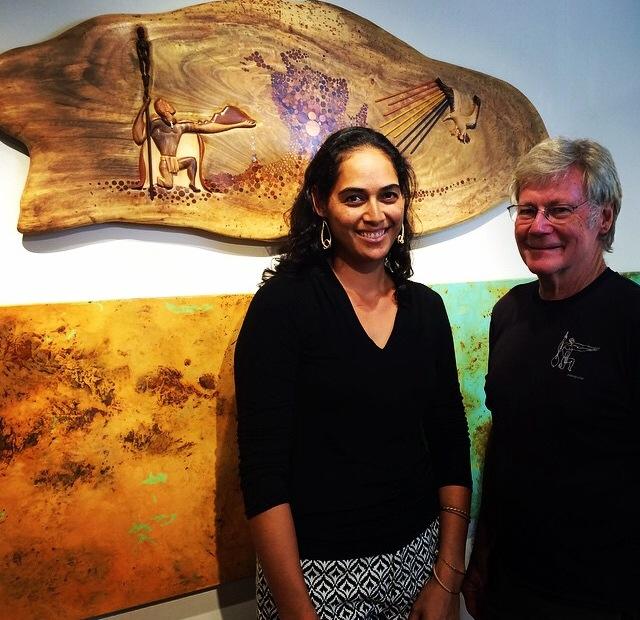 """Kumu Kau'i Kanaka'ole (left), of Hālau O Nakaulakuhikuhi is one of the guest speakers at the 6th Annual Hāna Limu Festival """"Makai to Mauka."""" Courtesy photo."""