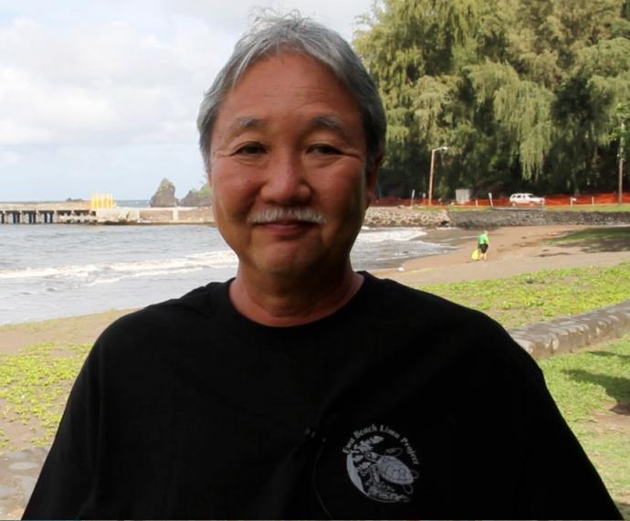 Wally Ito, 'Ewa Beach Limu Project. Photo credit: Manuel Mejia.