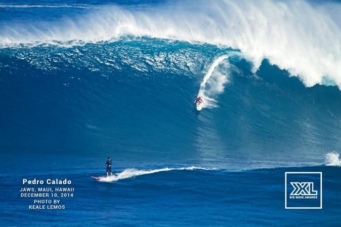 "Pedro Calado surfing Pe'ahi ""Jaws"" Dec. 10, 2014 / Image: Keale Lemos"