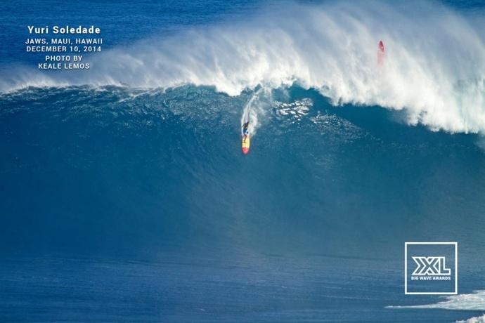 "Yuri Soledad surfing Pe'ahi ""Jaws"" Dec. 10, 2014 / Image: Keale Lemos"