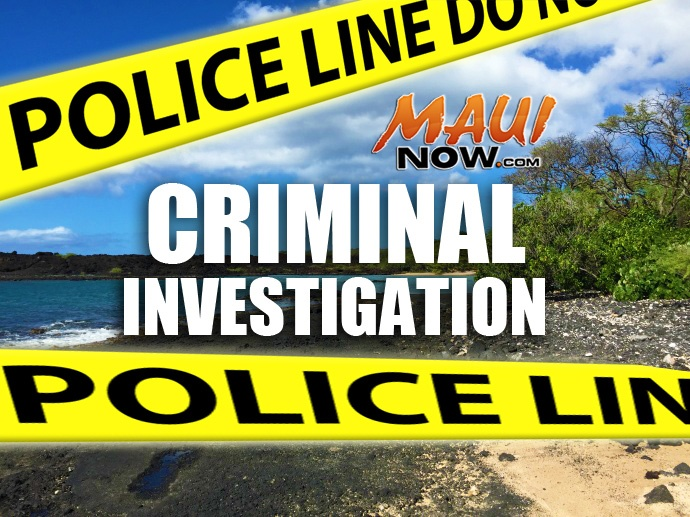La Perouse Bay, criminal investigation. Maui Now graphic.