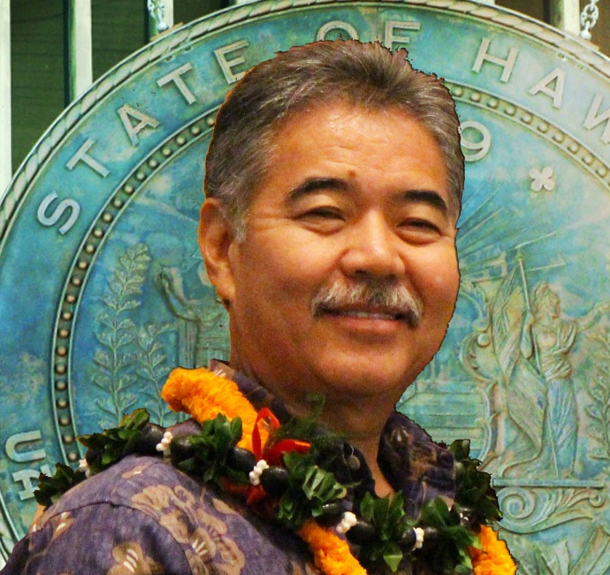 Gov. David Ige, image and graphics by Wendy Osher.