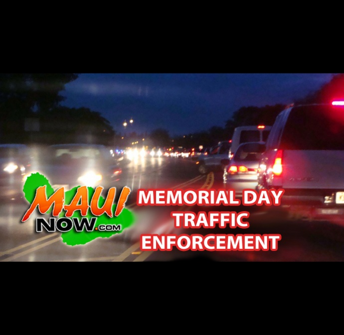 Memorial Day Traffic Enforcement. Graphic by Wendy Osher.