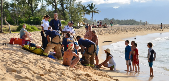 Maui Now : Can't Speak English, Can't Swim: Close Call at