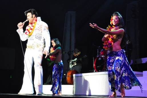 "Darren Lee as Elvis with dancers perform ""Aloha 'Oe."" Courtesy photo."