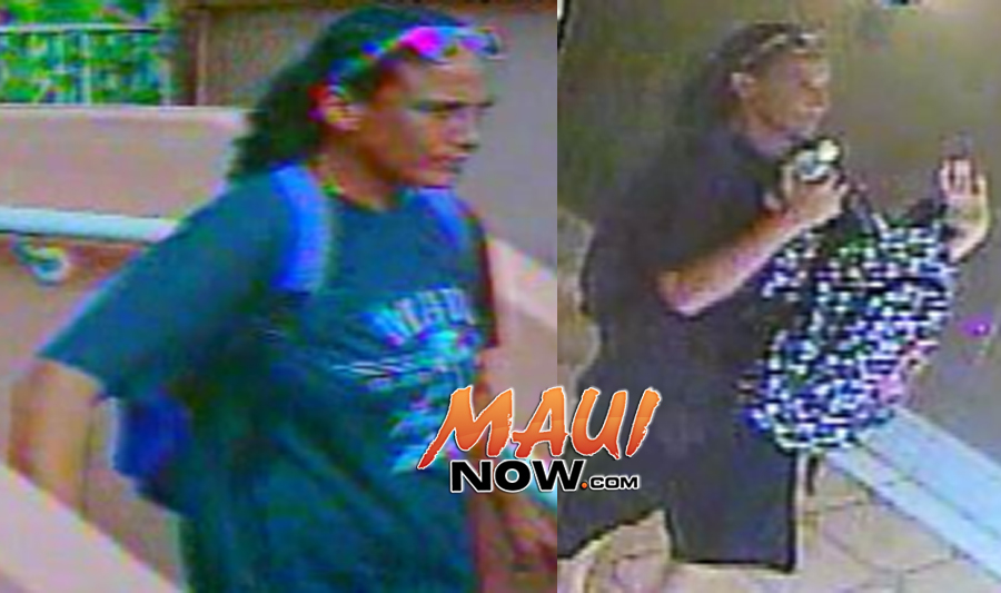 Surveillance images courtesy: Maui Crime Stoppers.