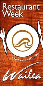 Restaurant Week Wailea 2015 is November 1-7.