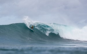 Maui's Ian Walsh competes in the 2015 HIC Pro, taking first place. Photo courtesy of World Surf League (WSL).