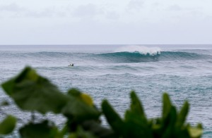 Line-up at Sunset Beach, O'ahu at the HIC Pro. Photo courtesy of World Surf League (WSL).