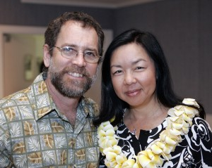 Pacific Biodiesel Founders, Bob and Kelly King, Named to the International List of Top 100 People in the Advanced Bioeconomy for 2016. Photo: Blue Planet Summit Cocktail Party at the Ihilani Marriot in Kapolei, Hawaii, April 2, 2008. Photo by Marco Garcia.