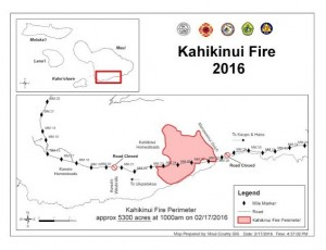 Kahikinui fire map. Credit: Maui Department of Fire and Public Safety.