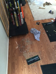 Forced entry at Hitter's Paradise. Owners are seeking information leading to the arrest of suspects involved.
