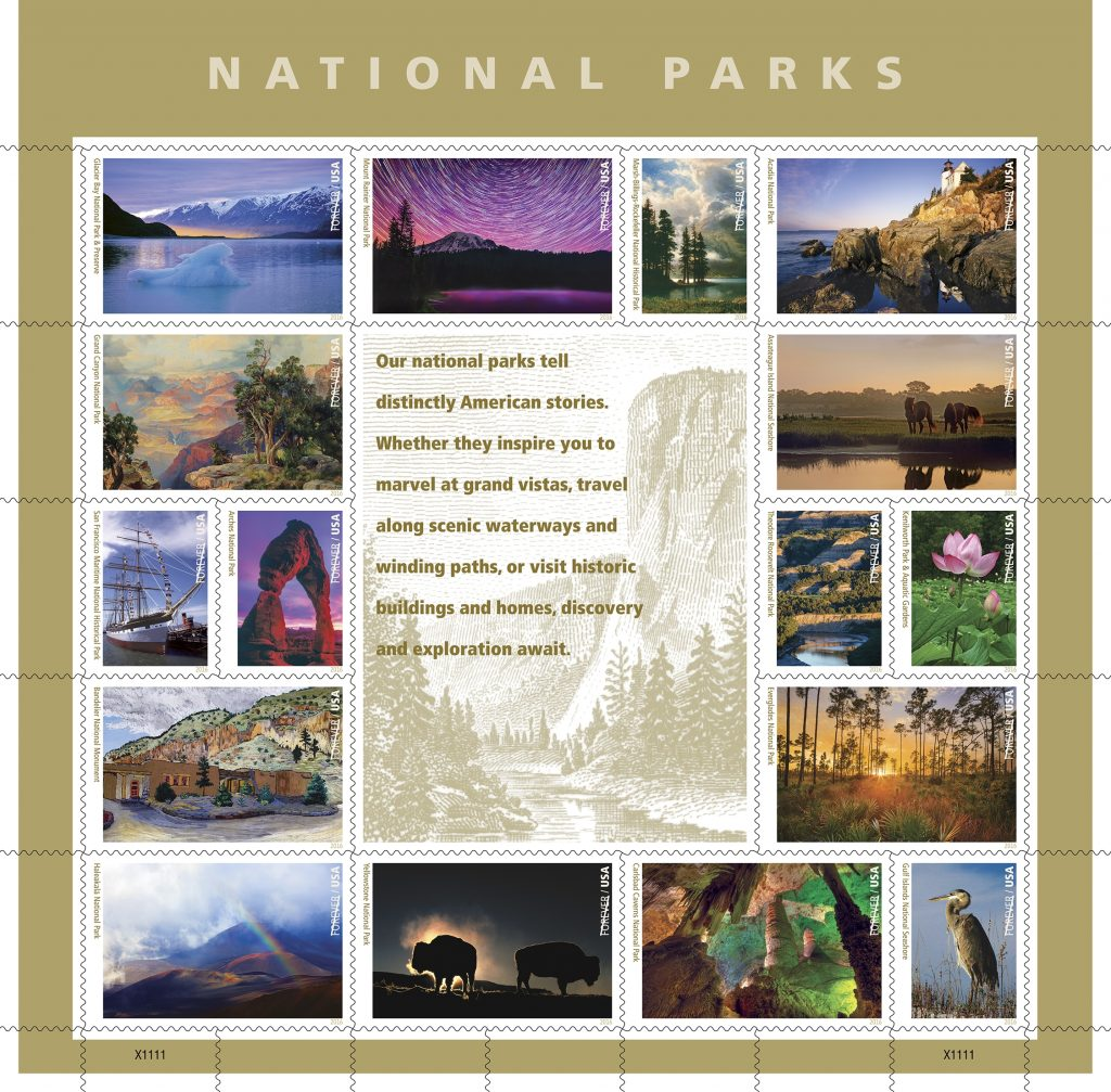 The Maui stamp is part of a sheet of 16 Forever Stamps depicting an assortment of national parks in celebration of the National Park Service's centennial.