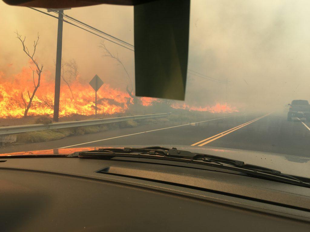 Māʻalaea fire 7.2.16. Photo credit: Nicole Rosa.