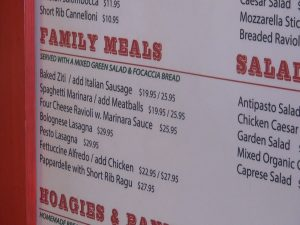 Family meals available for take-out at Maui Pasta in Waikapū.  Photo by Kiaora Bohlool.