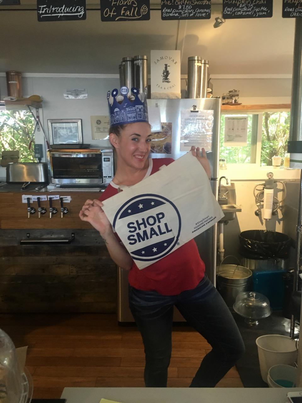 Sip Me owner, Laura Wentworth. Shop Small Saturday happens Nov. 26, 2016.