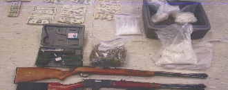 Maui Now file photo of items seized in 2009 Maui drug bust.