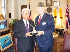 Akaka Receives VFW Congressional Award; Photo Courtesy Sen. Akaka's Office
