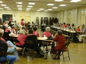 An estimated 200 people showed up for the Budget hearing in Lahaina, with about 50 in attendance actually testifying.  Photo by Wendy Osher.