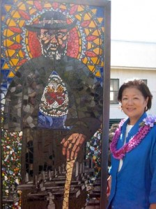 Photo Courtesy Congresswoman Mazie Hirono's Office.  The photo was taken during one of Hirono's visits to the Kalaupapa Peninsula.
