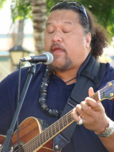 Willie K. performs at the first Pa'ani with Poki event at the Bailey House Museum in Lahaina.