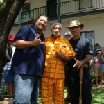 Willie K., Braddah Poki, and Kumu Keli'i Tau'a joined in presenting the first in a series of 10 Hawaiian Music events on the lawn of the Bailey House Museum.