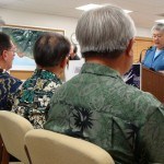 Maui County council members listen to highlights of the Mayor's 2010 budget.