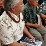 Councilman Sol Kahoohalahala (foreground) and Council Budget Chair Joe Pontanilla listen to the Mayor's budget presentation for FY2010.