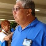 Samuel Araki, member of the Veterans of Foreign Affairs participates in the 21 Gun Salute