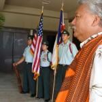 Councilman Sol Kaho'ohalahala performs the Oli, Pule & Benediction.