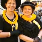 'Ahahui members Kehau Lu'uwai (left) and Hulu Lindsey (right).