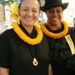 'Ahahui members Momi Kalehuawehe (left) and Elizabeth Morales (right).