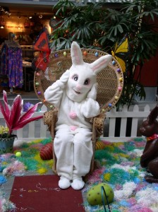 "Photo Courtesy Lahaina Cannery Mall. The big bunny himself will be on hand at Lahaina Cannery Mall Friday, April 10 from 6 p.m. to 8 p.m. and Saturday, April 11 from 10 a.m. to 3 p.m. for photos. Saturday activities include children's crafts, Easter basket giveaways, free face painting, crafts, a visit from the Maui Humane Society's mobile pet adoption program, and magic and comedy from ""The Amazing Stuporman."""